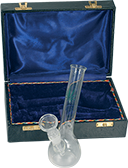 Glass Curved Bong in Box