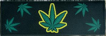 Plastic wallet marihuana leaf design
