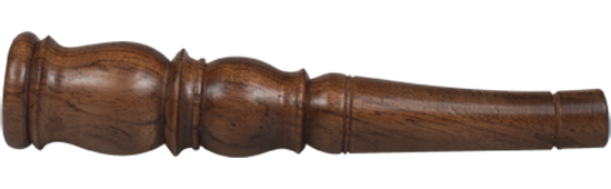 Small Wrought Rosewood Chillum