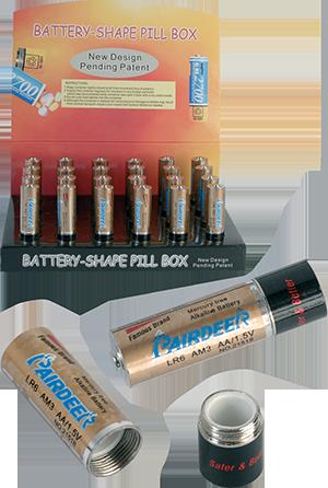 battery shape pill box