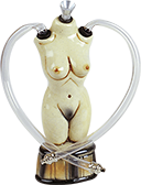 Ceramic Female Body Headshop Waterpipe