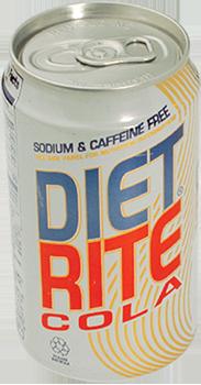 diet rite beverage stashcan