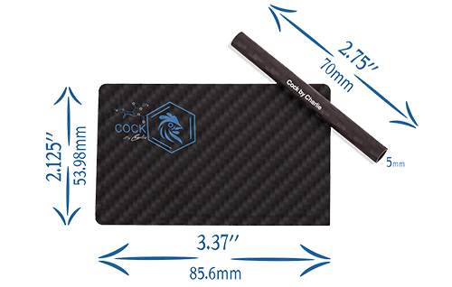 Pure Carbon Fiber Card & Straw Set