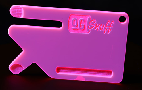 OG Snuff Card Punch Pink