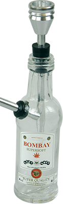 glass bottle bombay cannabis waterpipe