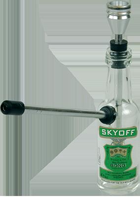 "glass ""bottle skyoff"" amsterdam waterpipe"