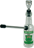 "glass ""bottle skyoff"" amsterdam waterpipe"