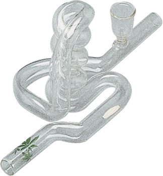 Glass Freaky Cannabis Smoking Pipe