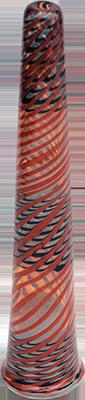 glass large colour headshop chillum