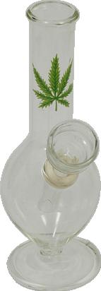 glass leaf marijuana bong