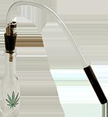 glass rasta marijuana waterpipe