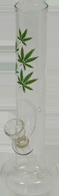 """glass """"weedleaf"""" waterpipe"""