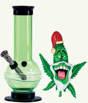 green bong chrismas gift set
