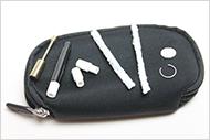 de Vaporizer word gelevert in een handig draagtasje met alle nodige onderdelen