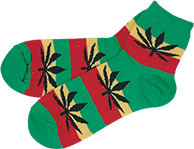 marijuana rasta socks