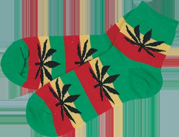 marijuana rasta socks