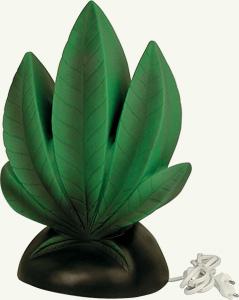 marijuana leaf lamp