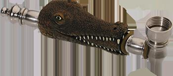 metal alligator buy smoking pipe