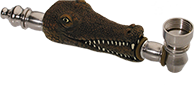metalen alligator buy rook pijp