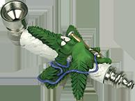 Metal Weedleaf Smoking A Waterpipe Smoking Pipe