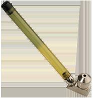 metal yellow headshop smoking pipe