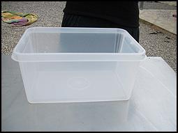 transparant plastic box