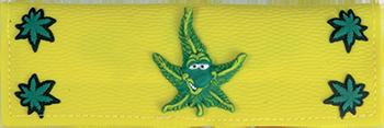 plastic wallet weed leaf design