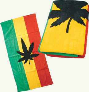 z rasta leaf towel