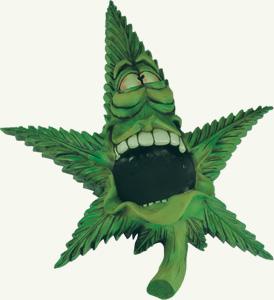 red eye cannabisleaf ashtray