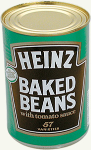 z safecan heinz beans