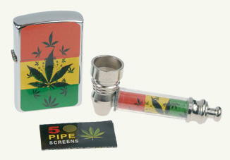 rasta cannabis leaf gift set