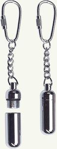 silver keychain snuff bulb