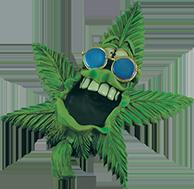 sunglasses weedleaf ashtray