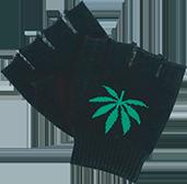 weed leaf gloves