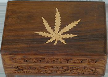 Wooden Weedleaf Box